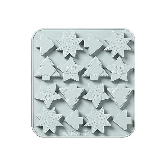 DFVVR - Molde de Silicona para jabón, diseño de Navidad, Hecho a ...