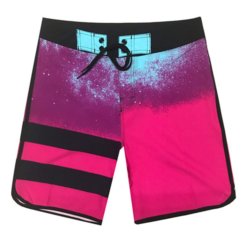 High Elastic Mens Board Shorts Surf Swimwear Beach Wear Male Striped Swim Shorts Gym Shorts