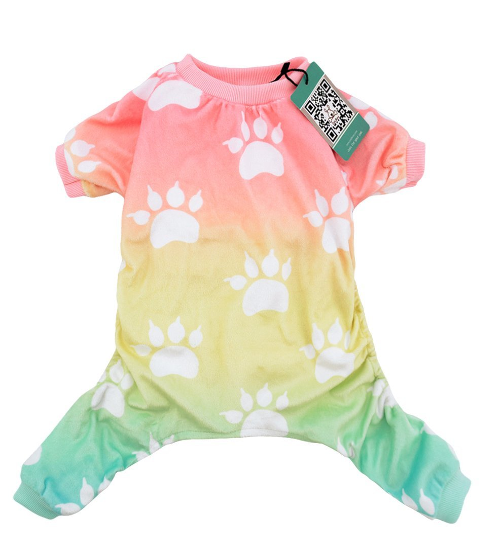 CuteBone Dog pajamas Dog Apparel Dog Jumpsuit Gradient color Pet Clothes Pajamas P09M