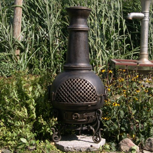 The Blue Rooster Gatsby Chiminea In Antique Green Best