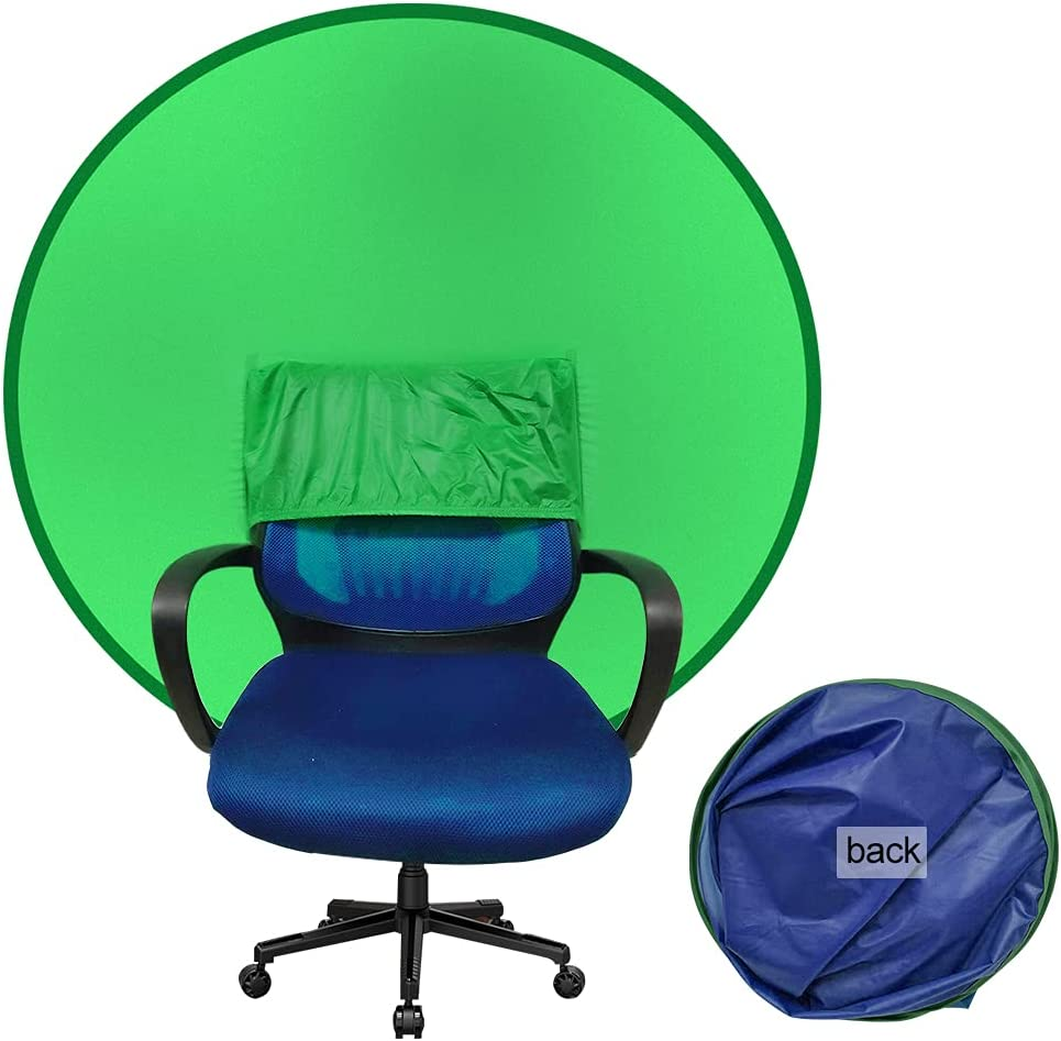 2-in-1 Green Screen Work from Home Video Conferencing Dual-Sided 56
