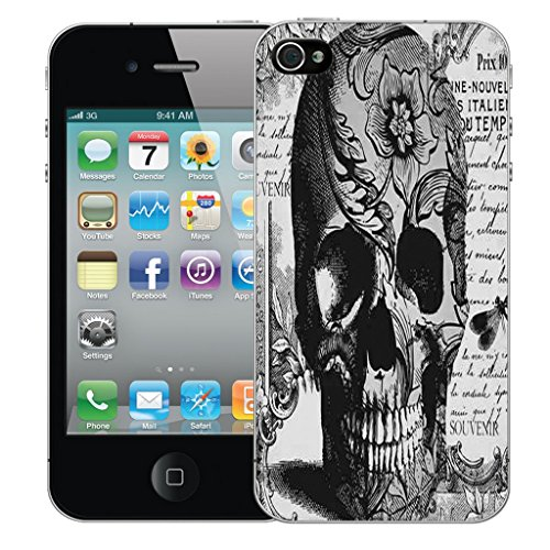 Mobile Case Mate iPhone 5c Silicone Coque couverture case cover Pare-chocs + STYLET - Black Periodical Skull pattern (SILICON)
