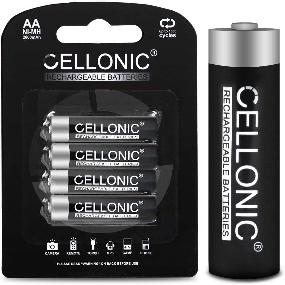 CELLONIC® Batería Premium Compatible con Garmin Oregon, Dakota, Montana, Monterra, Astro, GPSMAP, eTrex, eTrex Touch, Approach, 010-11874-00, 361-00071-00 4X 2600mAh Pila Repuesto bateria