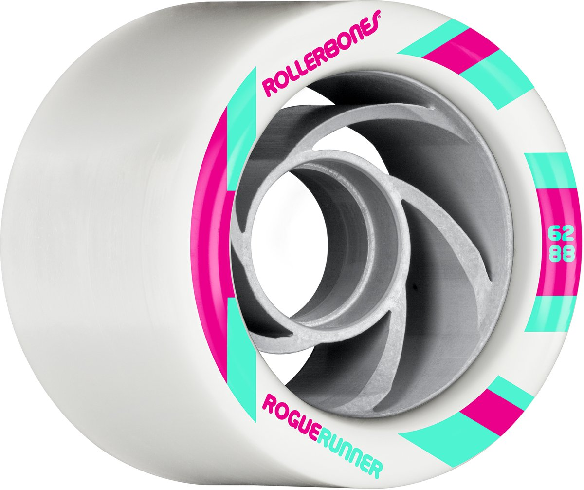 RollerBones Rogue Runner Signature Wheel Set of 8 Rollerskate Wheels