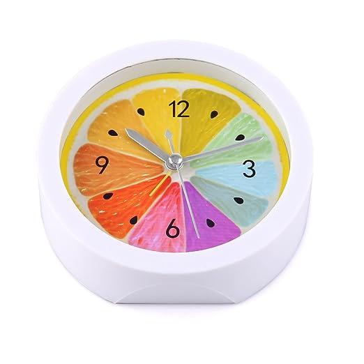 Lommer Reloj Despertador analógico, rústico Estilo Limones patrón ...