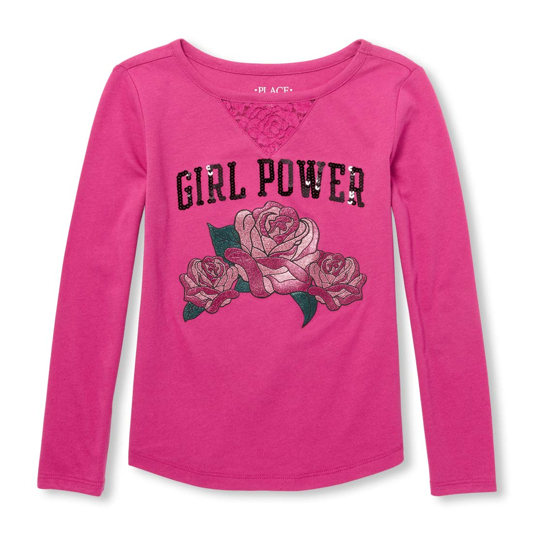 The Childrens Place Big Girls Long Sleeve Graphic Tops