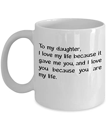 Amazoncom Funny Dad Mug From Daughter To My Daughter I Love My