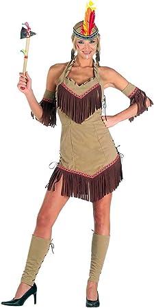 chiber Disfraces Disfraz de India Comanche Mujer Adulta - Talla ...