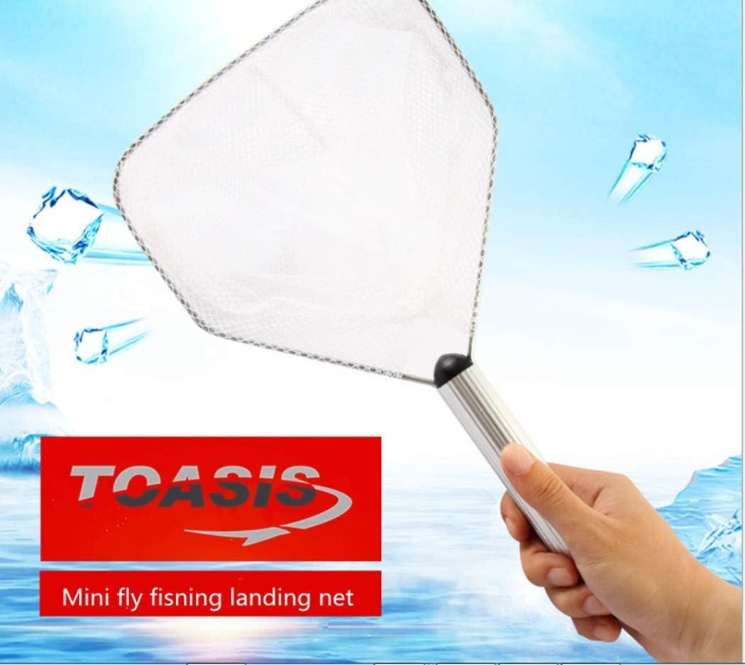 Toasis Mini Fliegenfischkescher Nylon Mesh Forellenbarsch Fang und Release Net Aquarium Netz