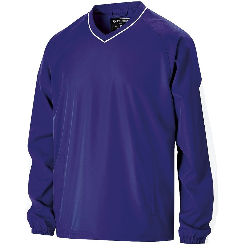 Holloway Youth Bionic Pullover Windshirt (Medium, Purple/White) by Holloway