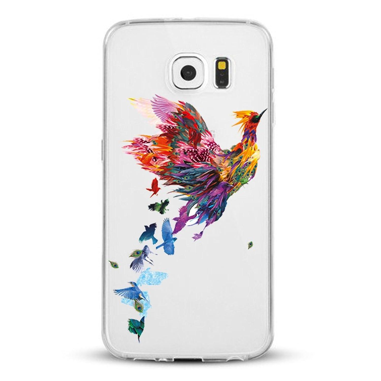 ( No para S6 Edge ) Samsung Galaxy S6 Edge Plus Carcasa ,Qissy® TPU silicona pintada Funda para Samsung Galaxy S6 Edge Plus suave Flexible Anti Rasguños Casco