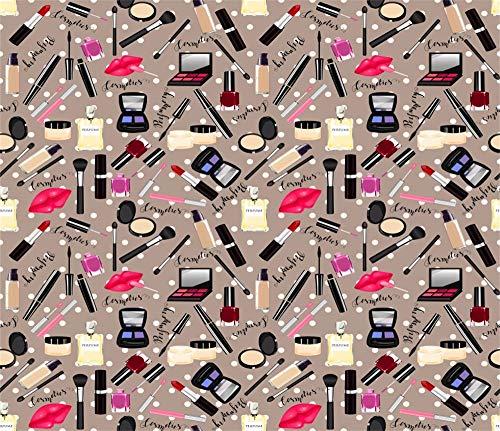 Leyiyi Make Up Backdrop 8x6ft Photography Background Treandy Girls Cosmetology Cosmetic Lipsticks Perfume Blush Brush Concealer Mascara Volgger Live Video Room Decoration Ladies Photo Props ()