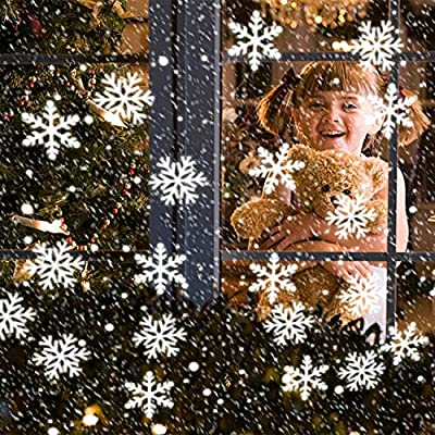 DASINKO Snowflake Projector Lights,LED Christmas Lights Indoor and Outdoor Waterproof Ceiling Decorative Projection,Snowfall Spotlight Holiday Lights for Christmas Halloween Party Wedding Decorations