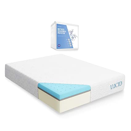 Amazoncom Lucid 12 Inch Gel Memory Foam Mattress Triple Layer