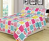 quilt double bed - Twin 2 Piece Owls Bed Set Bedding Quilt Bedspread, Girls Owl Patchwork Pink Blue Yellow