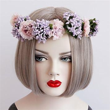 Amazon De Wddzy Girlande Blumen Braut Kranz Kunstlicher Blumen