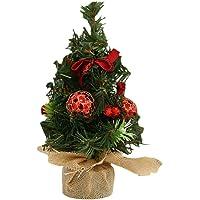 YeahiBaby Pequeño árbol de Navidad para decoración de Mesa de casa y Fiesta(Rojo)