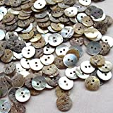 New Upick 11/13/15/23mm 100pcs Shell Buttons Sewing Craft Buttons 2 Holes (11mm)