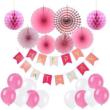 Ciaoed Geburtstagsdeko Geburtstag Party Dekorationen Set Fur Madche