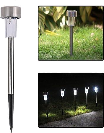 La cabina 5pcs LED luz de la iluminación jardín luz exterior Solar césped lámpara de bajo consumo de energía Luz de suelo solar: Amazon.es: Hogar