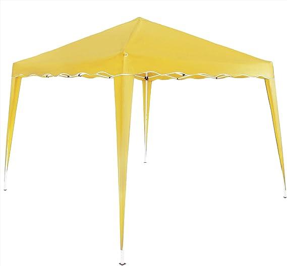 Deuba Pabellon de Jardin cenador Capri Amarillo 3x3 m Carpa Plegable de jardín Impermeable y Pop Up para Eventos Camping