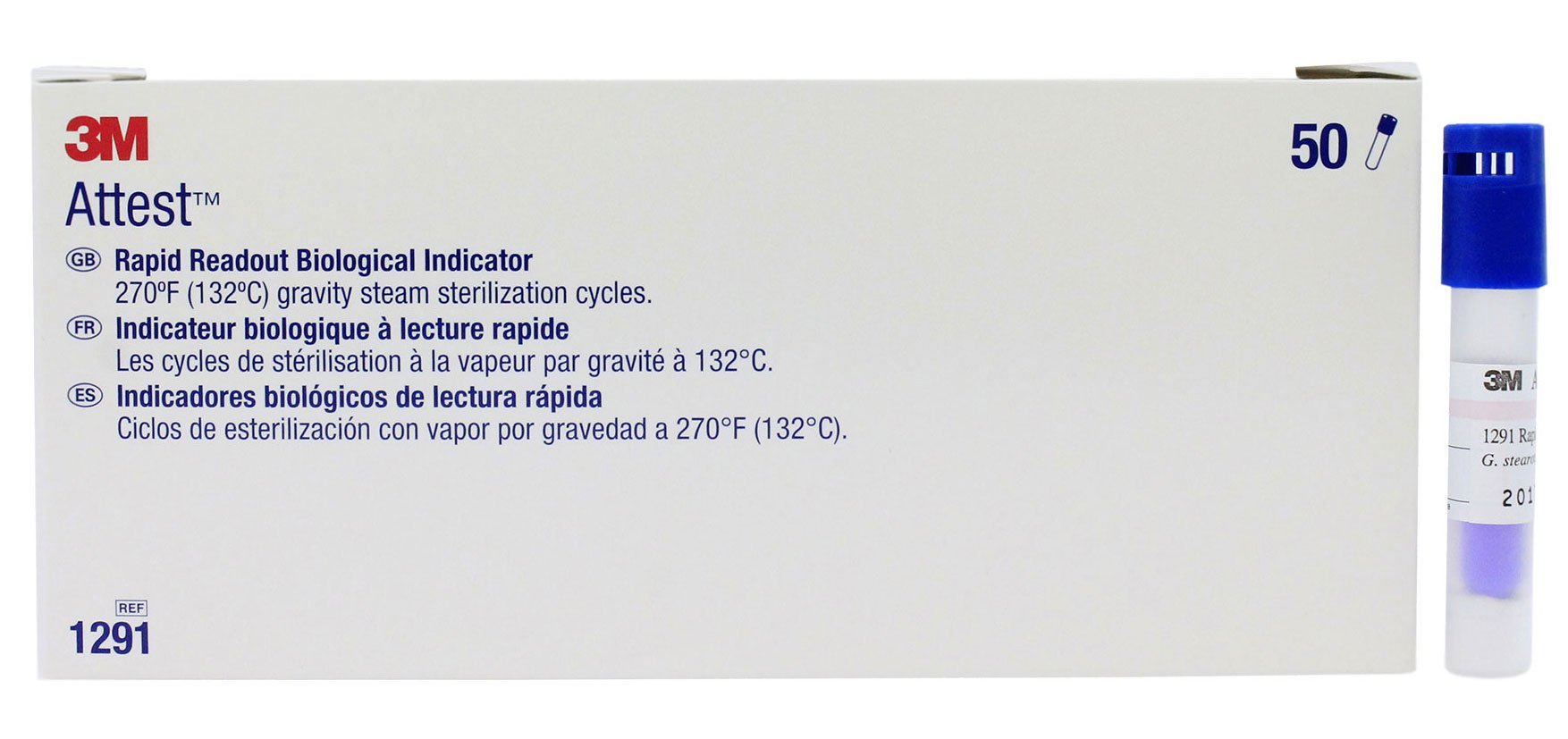 3M 1291 Attest Rapid Readout Indicators - Box of 50 - Sterilization Monitoring by Attest (Image #1)