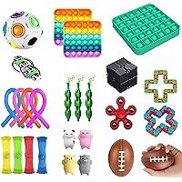 DASKING 26PCS Fidget Toys Pack, Juguetes Antiestres para Inquietos, Juguetes Sensoriales para Aliviar el Estrés y…