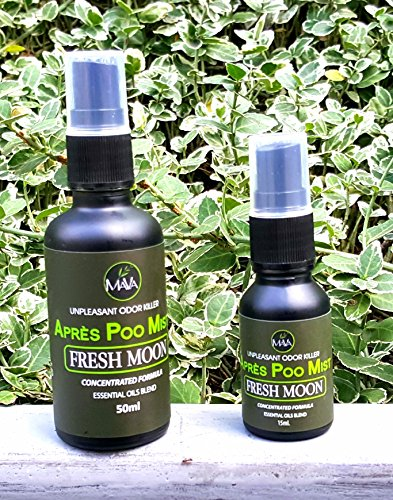 Après Poo Mist, Before & After You Go Spray, 340 uses FRESH MOON (Citrus Scent) (50 ml) by Mava Products USA (Image #5)