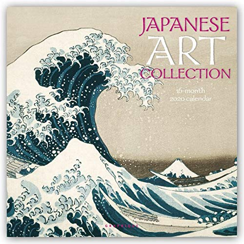 Graphique Japanese Art Collection Wall Calendar, 16-Month 2020 Wall Calendar with Classic Japanese Paintings, 3 Languages & Major Holidays, 2020 Calendar, 12