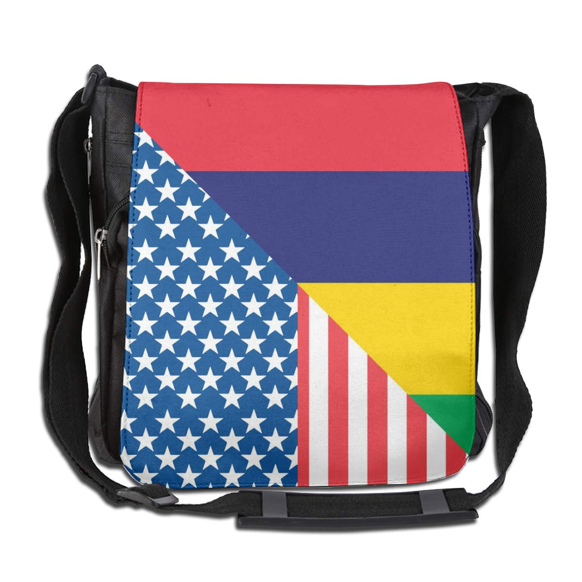 Unisex Durable Satchel Messenger Bags American And Mauritius Flag2 Crossbody Shoulder Bag Side Bags For School//Work//Trips