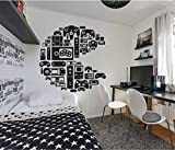 Wall Decal Sticker Bedroom Controller Xbox Playstation Video Games Gamer Boys Teenager Room us035