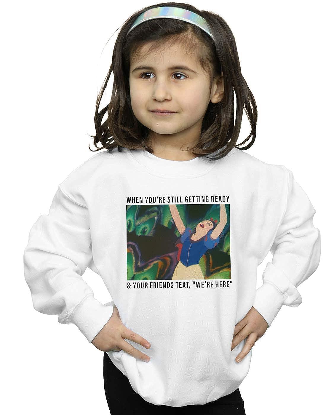 Disney Princess Girls Snow White Still Getting Ready Sweatshirt