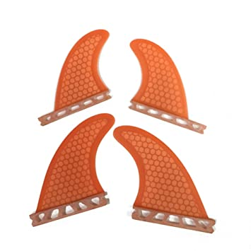 UPSURF futuro tabla de surf Aleta aletas de fibra de vidrio + Quad de panal G3