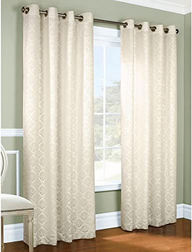 Commonwealth Anna 63 Grommet Curtain Panel in Ivory Set of 2