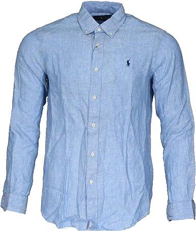 Ralph Lauren Camisa de manga larga para hombre, corte clásico ...