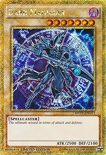 Limited Edition Rare Card - Yu-Gi-Oh - Dark Magician - MVP1-ENGV3 - Gold Secret Rare - Limited Edition - the Dark Side of Dimensions Movie Pack Gold Edition (Limited Edition)
