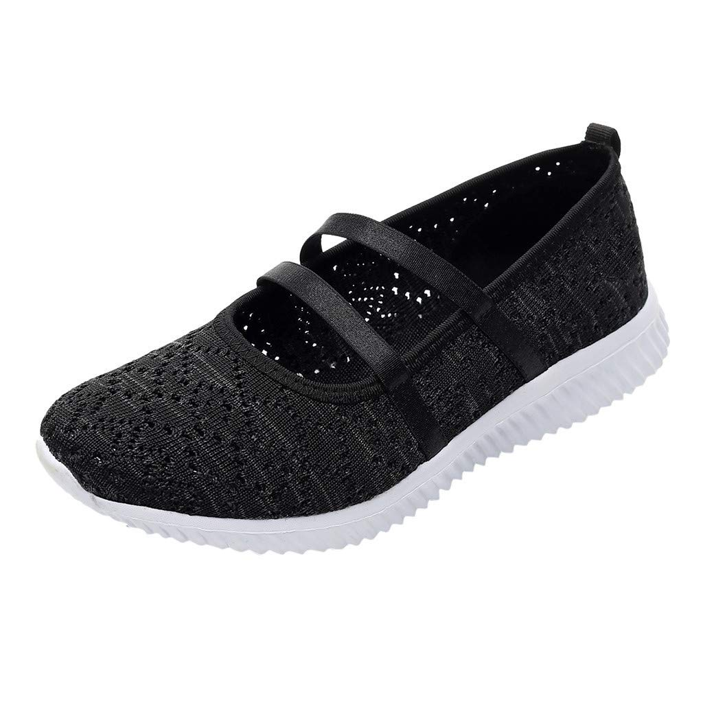 ZOMUSAR New! 2019 Women Outdoor Mesh Soft Bottom Sports Shoes Running Breathable Shoes Sneakers Black by ZOMUSAR