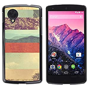 Be Good Phone Accessory // Dura Cáscara cubierta Protectora Caso Carcasa Funda de Protección para LG Google Nexus 5 D820 D821 // Desert Lines Pattern Sky Red Planet