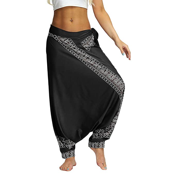 Men Women Joggers Loose Hippy Yoga Trousers Baggy Boho ...