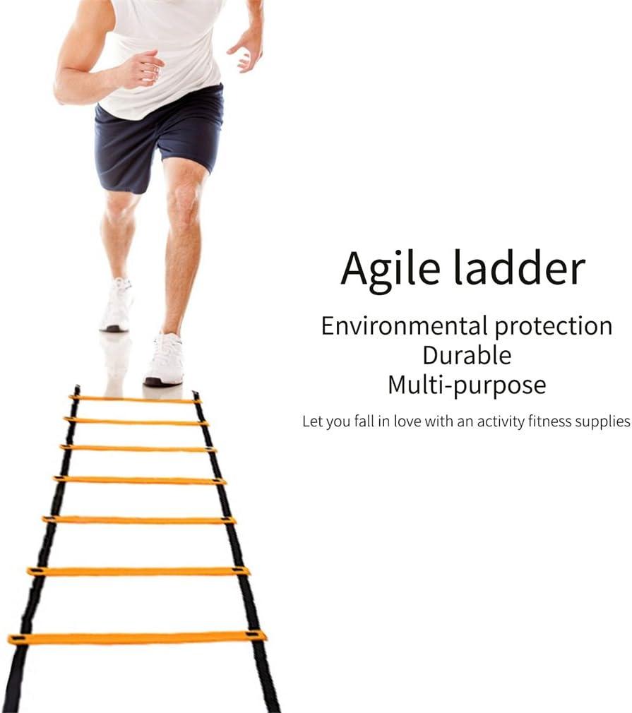 U-KISS rápida formación escalera de agilidad peldaños escalera - Herramienta de formación (6M): Amazon.es: Deportes y aire libre