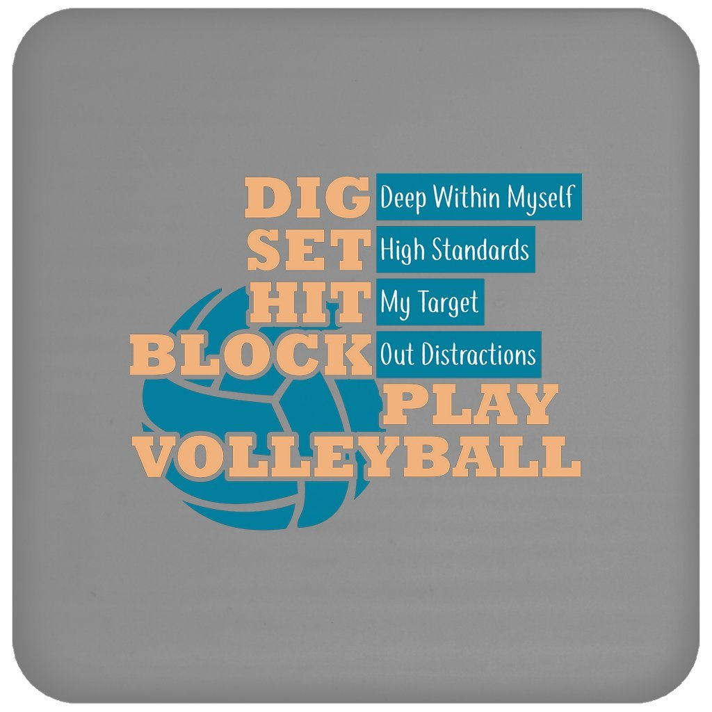 Funny volleyballdigセットHitブロックvolleyballvolleyball Lover、コースター   B079NFMG2V