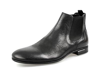 Prada Men's 2T2723 Fia F0632 Black Leather Half-Boot EU 8 (42)/