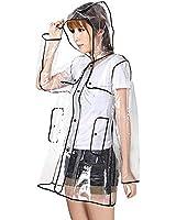 Amazon.com: New Transparent Raincoat Runway Women's Girls Clear ...
