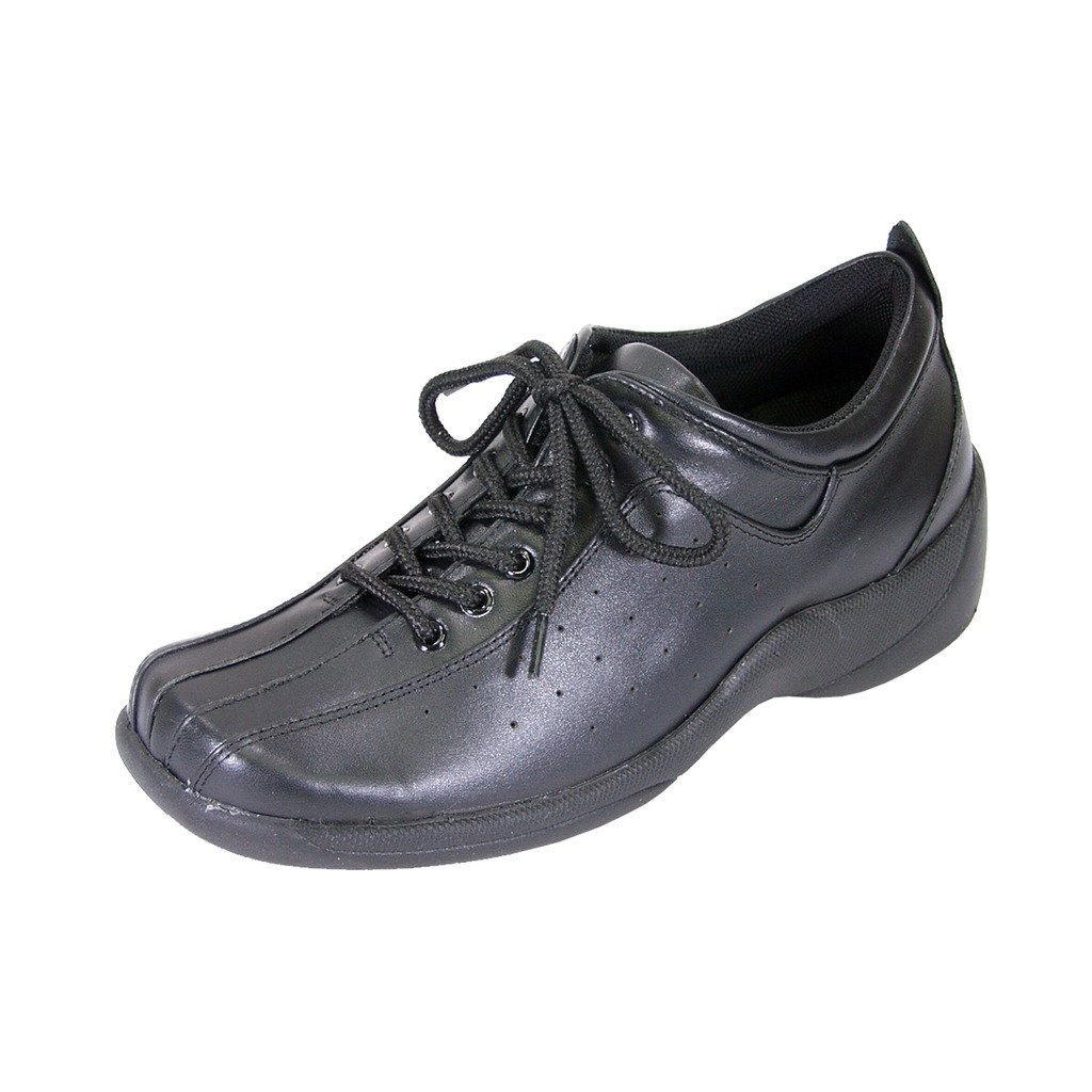 24 Hour Comfort Tara Women Wide Width Lace Up Shoes Black 6 by 24 Hour Comfort