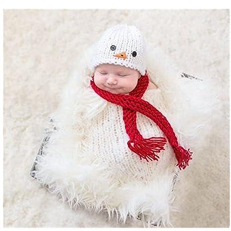 Bebé recién nacido fotografía apoyos niño Niña Gorro de Crochet para adulto  saco de dormir 53c8fd351ed
