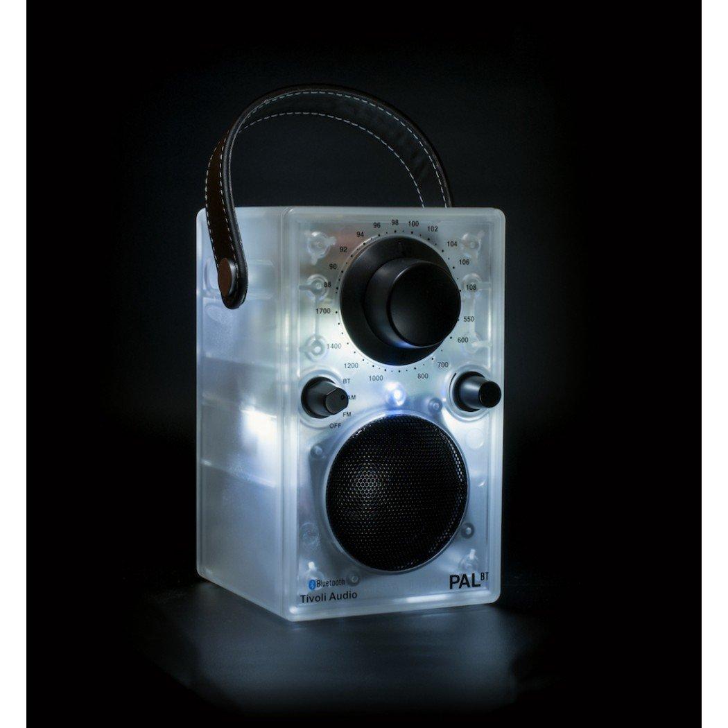 Tivoli Audio PALBTGLO Clear Frosted/Black Transparent. Portable Audio Laboratory Bluetooth