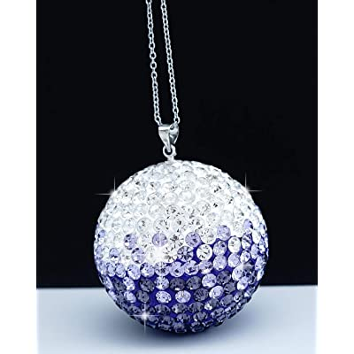 Bling Crystal Ball Car Rear View Mirror Charm,Crystal Sun Catcher Ornament,Car Charm Decoration, Bling Car Accessories,Rhinestone Hanging Ornament for Car & Home Decor (Crystall Ball - Purple): Automotive