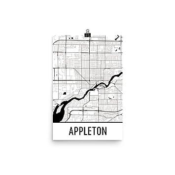 Amazon Com Appleton Print Appleton Art Appleton Map Appleton
