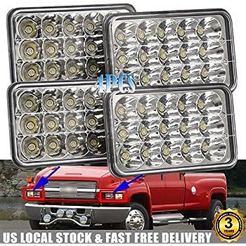 Amazon Com 4x6 Led Headlights For Chevrolet Chevy C4500 C5500