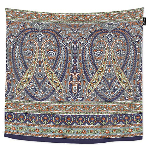 oFloral Indian Tapestry Paisley Damask Abstract Beauty Floral Wallpaper Texture Decorative Wall Tapestry Home Decor Tapestries Wall Hanging for Bedroom Dorm Livingroom 60H80W - Damask Abstract Tapestry